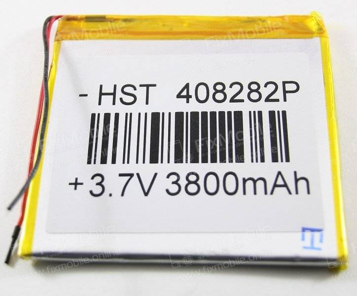 Аккумуляторная батарея универсальная 408282p 3,7v 3800 mAh 4*82*82 мм